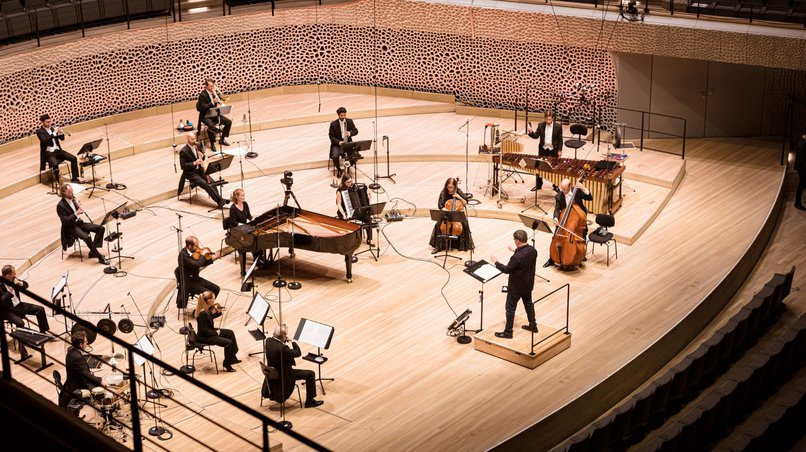 Proben auf Abstand: NDR Elbphilharmonie Orchester