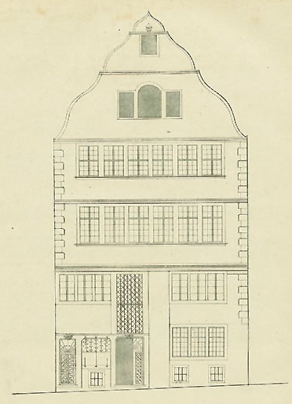 Wohnhaus der Beethovens (Druck von 1837)