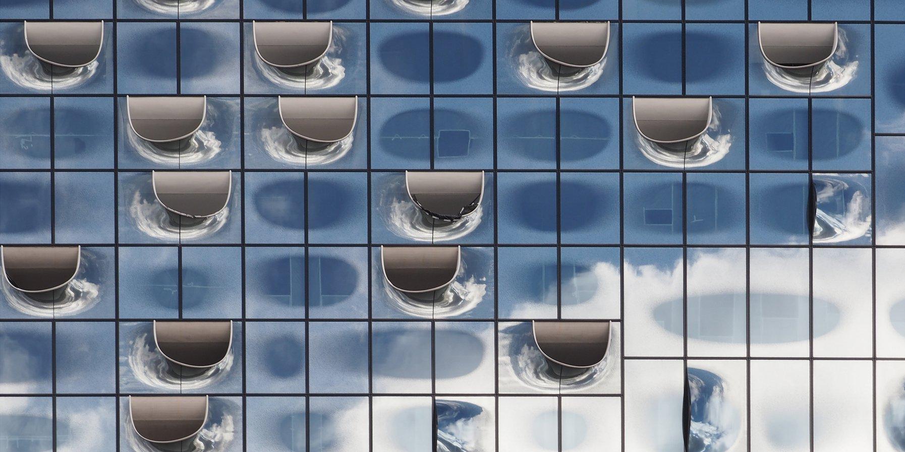 Die Fassade der Elbphilharmonie