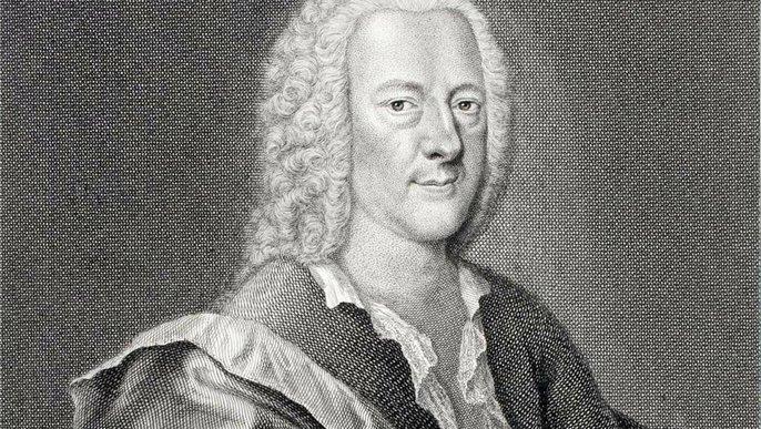 Georg Philipp Telemann, Kupferstich von Georg Lichtensteger, 1745
