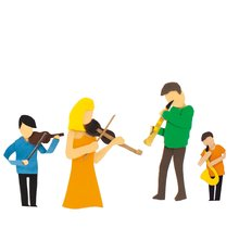 Illustration Familiy Orchestra