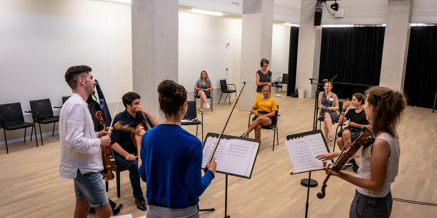 Überraschungsbesuch: Das Aris Quartett aus Frankfurt